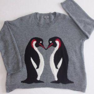 Joseph A .penguin print Sweater